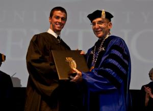 Nadzam received the Sullivan Award during the 2011 Commencement.